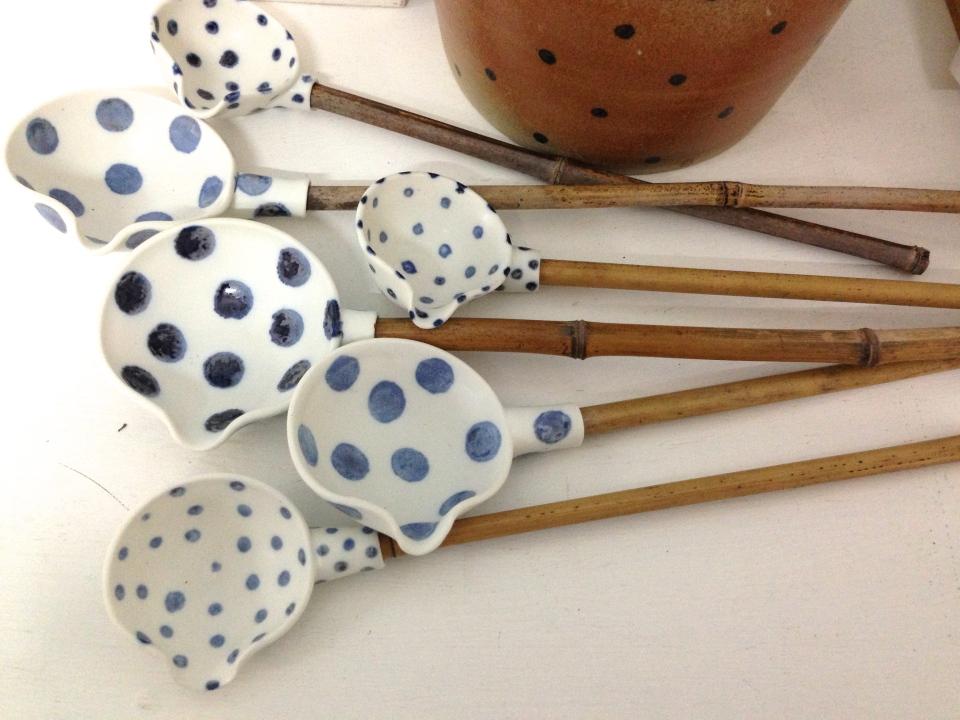 porcelain ladles